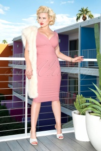50s Trinity Pencil Dress in Rose