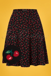 King Louie Circle Cherry Borderskirt in Black 23311 20171221 0001wv