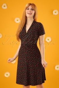 60s Emmy Cherise Dress in Black