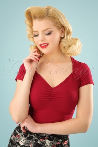 50s Diamond Top in Red