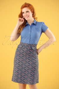 60s Elo Skirt in Blue