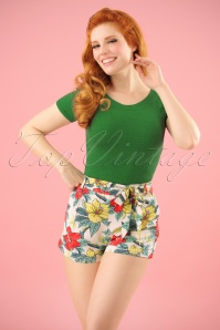 King Louie Roisin Hibiscus Shorts  130 57 23196 20180215 0009W
