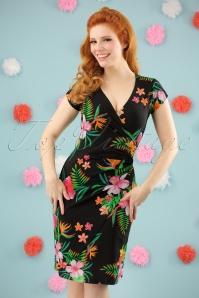 Buenos Aires Paradise Dress Années 60 en Noir