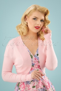 50s Jean Knitted Bolero in Peach