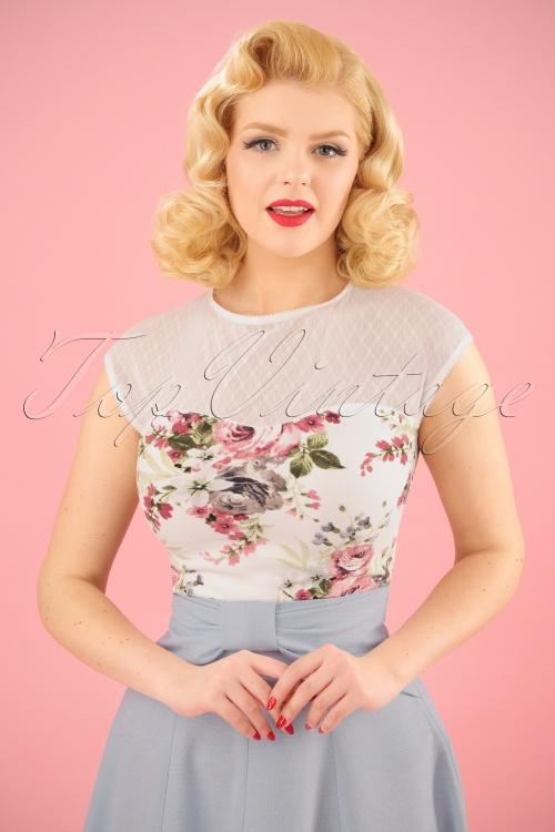 Steady Vera Blush Ivory Floral Top 110 59 20746 20170313 0009W