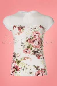 Steady Vera Blush Ivory Floral Top 110 59 20746 20170313 0008W