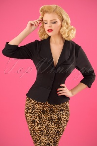 Miss Candyfloss 40s Noa Lee Blazer in Black