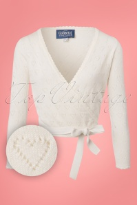 Collectif Clothing Darcy Wrap Around Cardigan in Ivory 22543 20171121 0002W1