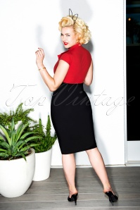 Glamour Bunny Lexy Pencil Dress in Black and Red 23876 20180104 02