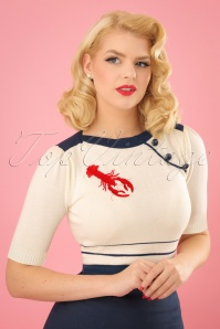 50s Armanda Lobster Jumper in Ivory