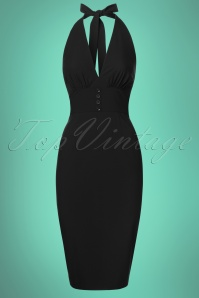 Glamour Bunny Edith Pencil Dress in Black 24028 20180103 0005W