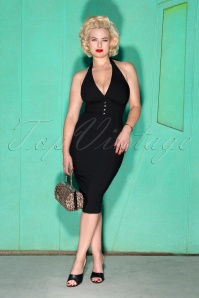 50s Edith Pencil Dress in Black