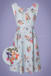 Yumi Floral Light Blue Striped Dress 22931 20180214 0001W1