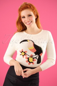 Yumi Toucan Jumper in Invory 113 50 22937 2W