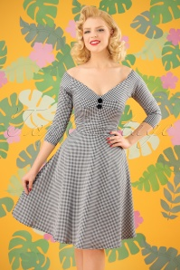 Vintage Chic Jacquard Gingham Jersey Dress 102 14 24495 20180216 0007W