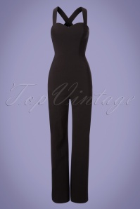 Collectif Clothing Flo Plain Jumpsuit in Black 22779 20171121 0002W