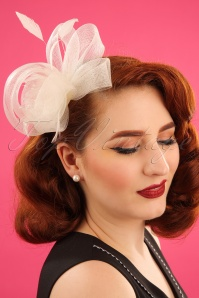 50s Victoria Fascinator in Ivory