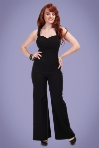 Collectif Clothing Flo Plain Jumpsuit in Black 22779 20171121 01
