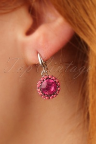 Glamfemme Fuchsia Earrings 333 22 24970 31032014 002W