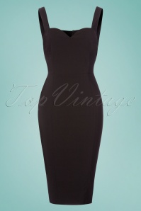 Collectif Clothing Anita Plain Pencil Dress in Black 22839 20171120 0001W