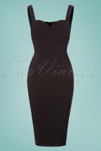 Collectif Clothing Anita Plain Pencil Dress in Black 22839 20171120 0001W