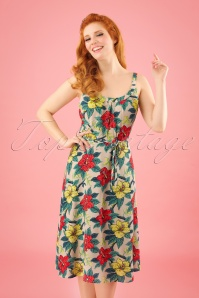 King Louie Allison Tropical Hibiscus Dress 102 57 23195 20180215 0011W