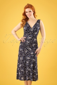 King Louie Ginger Midi Dress in Ink Blue 108 39 23296 20180213 0007W