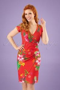 Buenos Aires Paradise Dress Années 60 en Corail