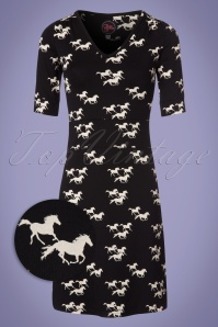 Tante Betsy Black Pony Horse Dress 106 14 23526 20180305 0001W1