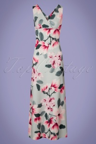 Vintage Chic V Neck Floral Maxi Dress 108 39 24516 20180310 0003W