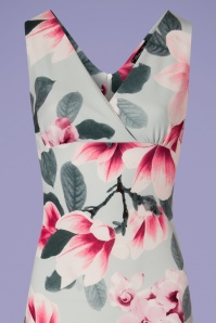 Vintage Chic V Neck Floral Maxi Dress 108 39 24516 20180310 0003V