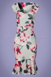Vintage Chic Floral Fishtail Dress 100 39 24506 20180310 0002W