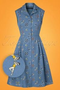 Sugarhill Boutique Adora Swimmers Blue Dress 106 39 25216 20180310 000W1