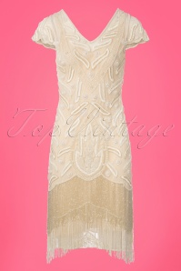 GatsbyLady Vegas Cream Flapper Dress 100 51 25171 20180320 0005W