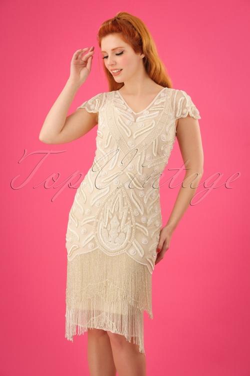 GatsbyLady Vegas Cream Flapper Dress 100 51 25171 20180320 01W