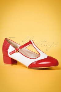 Lulu Hun REd and White Georgia Shoes 401 20 23788 14032018 004w