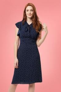 Sugarhill Boutique Florrie Polkadot Navy Dress 106 39 25218 20180310 01
