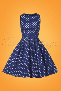 Dolly and Dotty Blue and White Polkadot Swing Dress 102 27 25688 20180320 0002W