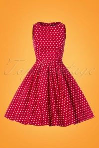 Dolly and Dotty Red and White Polkadot Swing Dress 102 27 25687 20180320 0002W
