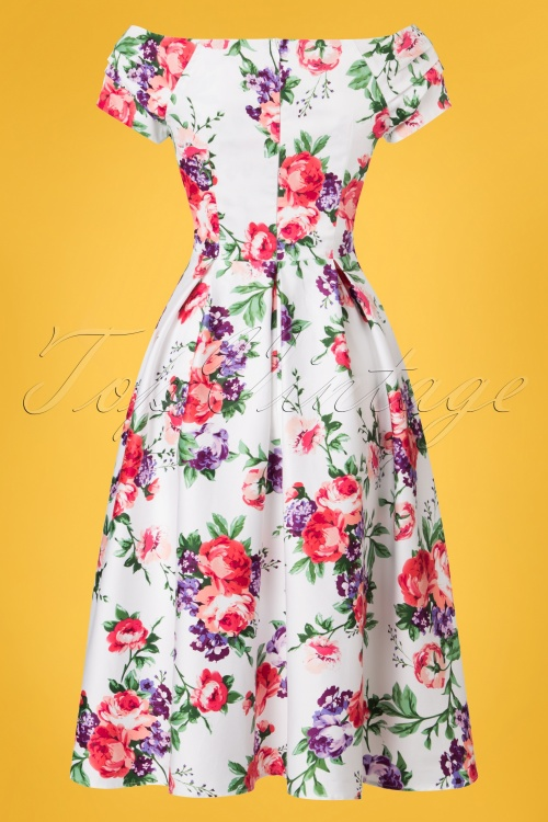 ff949dbfa8c089 Dolly and Dotty White Floral Swing Dress 102 59 22106 20170619 0010w