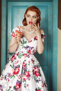 Dolly and Dotty White Floral Swing Dress 102 59 22106 20170619 05