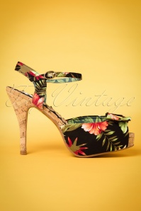 Bettie Page Shoes Leni Black Peeptoe Sandals 403 14 23564 14032018 005w