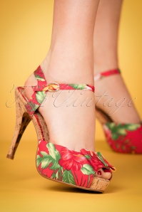 Bettie Page Shoes Leni red Peeptoe Sandals 403 27 23565 15032018 009w