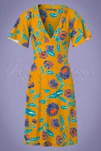 Bakery Ladies Big Flowers Dress in Amber 102 89 23550 20180320 0002W