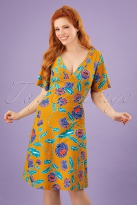 Bakery Ladies Big Flowers Dress in Amber 102 89 23550 20180320 01W