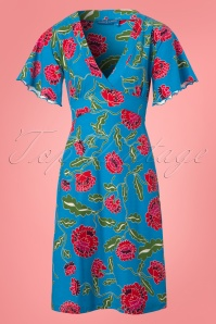 Bakery Ladies Big Flowers Dress in Blue 102 39 23547 20180320 0002W