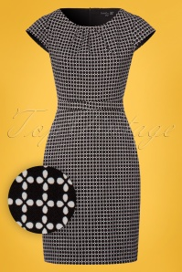 Smashed Lemon Black and White Pencil Dress 100 14 23501 20180322 0002W1