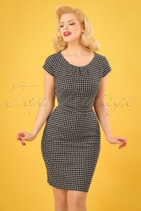 Smashed Lemon Black and White Pencil Dress 100 14 23501 20180322 01W
