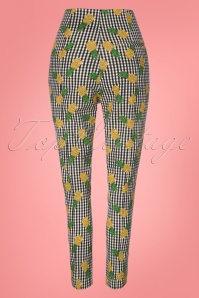 Collectif Clothing Bonnie Gingham Pineapple Trousers 23638 20171120 0008W