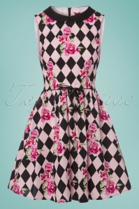 Bunny Harlequin Mini Dress in Black and Pink 102 14 24047 20180323 0002w